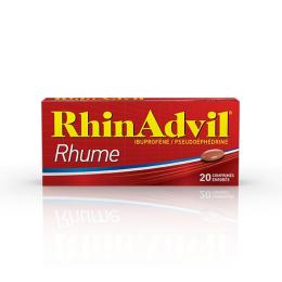 Rhinadvil Rhume Ibuprofene Pseudoephedrine  - 20 Comprimés Enrobés