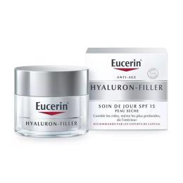 Eucerin Hyaluron-Filler Soin de Jour Anti-âge SPF 15 Peau Sèche - 50ml
