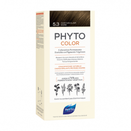 Phyto color  Kit de coloration permanente - 5.3 Châtain clair doré