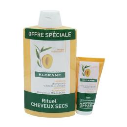 Klorane shampooing mangue 400ml + baume offert 50ml