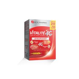 Forté Pharma Vitalité 4G Dynamisant - 20 ampoules +10 OFFERTES