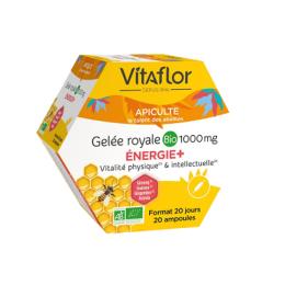 Vitaflor Gelée royale BIO Énergie+ 1000 mg - 20 ampoules