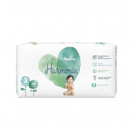 Pampers harmonie Taille 3 (6-10kg) - 46 couches