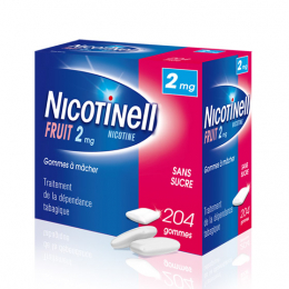 Nicotinell Gomme Fruit 2mg - 204 gommes à mâcher