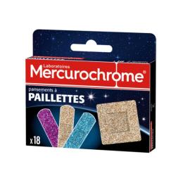 Mercurochrome Pansements à paillettes - 18 pansements