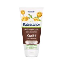 Natessance Après-shampooing baume ultra-riche Karité & Kératine végétale - 150ml