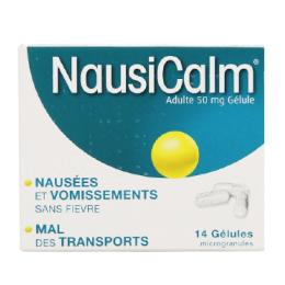Nausicalm adultes 50mg - 14 gélules