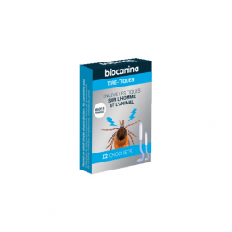Biocanina Tire-Tiques - 2 Crochets