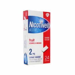 Nicotinell 2mg Fruit Sans sucre - 24 gommes