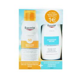 Eucerin Sensitive protect brume spf50 - 200ml + Sensitive Relief Après-Soleil - 150ml
