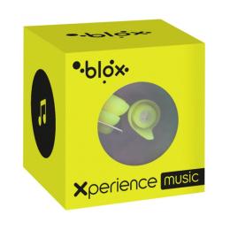 Blox Xperience music jaune fluo bouchons d'oreille  - 1 paire