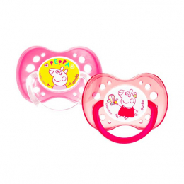 Dodie Sucette Anatomique +18mois Duo Peppa pig Rose - x2