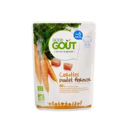 Good Gout Plat BIO carottes poulet fermier - 190g