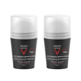 Vichy Homme déodorant anti-transpirant bille - 2x50ml