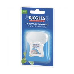 Ricqles fil dentaire expansible fluoré & mentholé - 40M