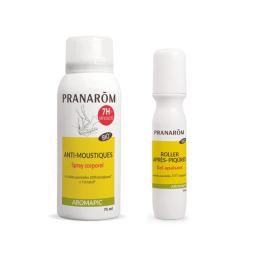 Pranarom anti-moustique spray corps BIO 75ml + Roller après-piqûres BIO 15ml