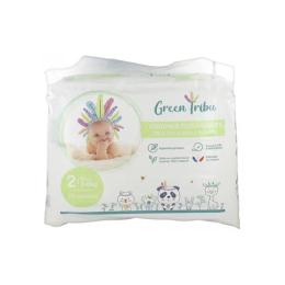 GREEN TRIBU Couches écologiques Mini T2  ( 3-6 kg) - 28 couches