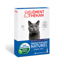 Clément Thékan Spot-on insectifuge Chat- 4x2ml