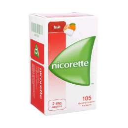 Nicorette fruits 2mg - 105 gommes à mâcher