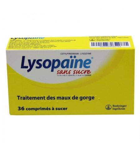 Lysopaïne miel citron sans sucre comprimés à sucer - x36