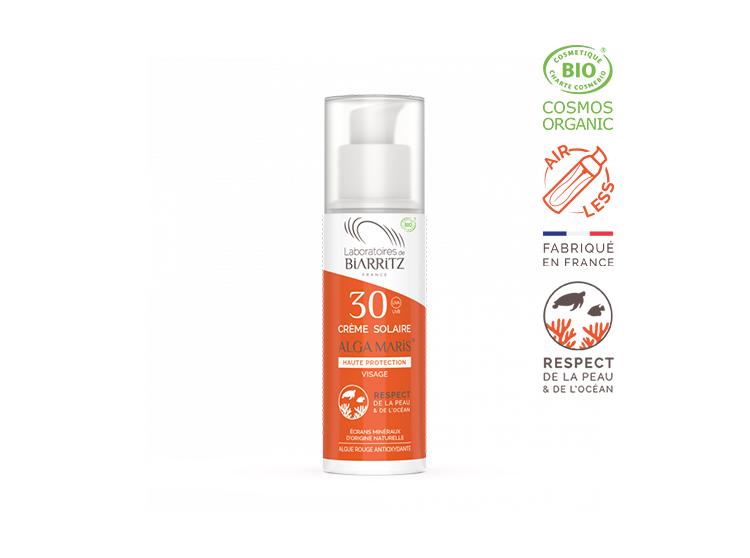 Laboratoires de Biarritz Alga maris Crème solaire visage SPF30 BIO - 50ml