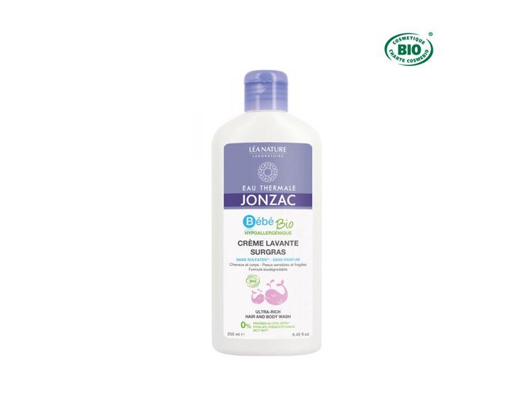 Jonzac Bébé BIO  Crème Lavante Surgras - 250ml