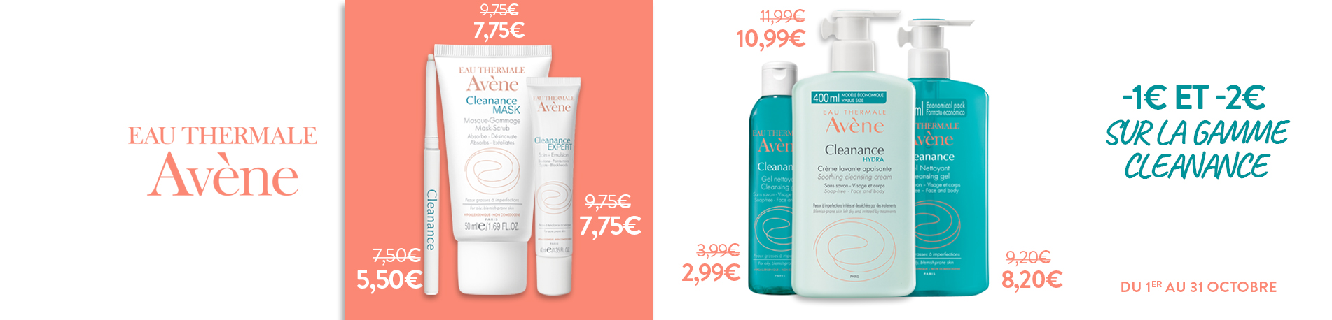 Promotion Avène Cleanance