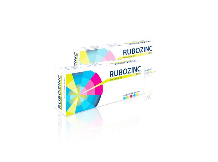 Rubozinc 15 mg - 60 gélules