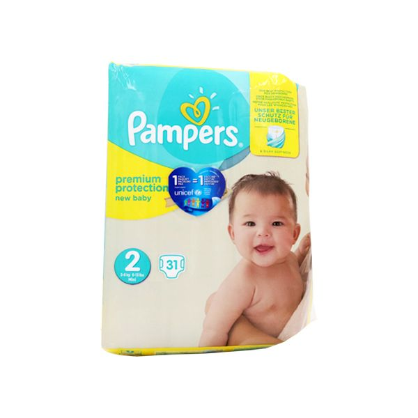 Pampers Couches Premium protection Taille 2  (3-6kg) - x31 couches