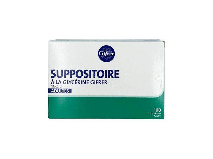 Gifrer Suppositoires à la glycérine - 100 suppositoires