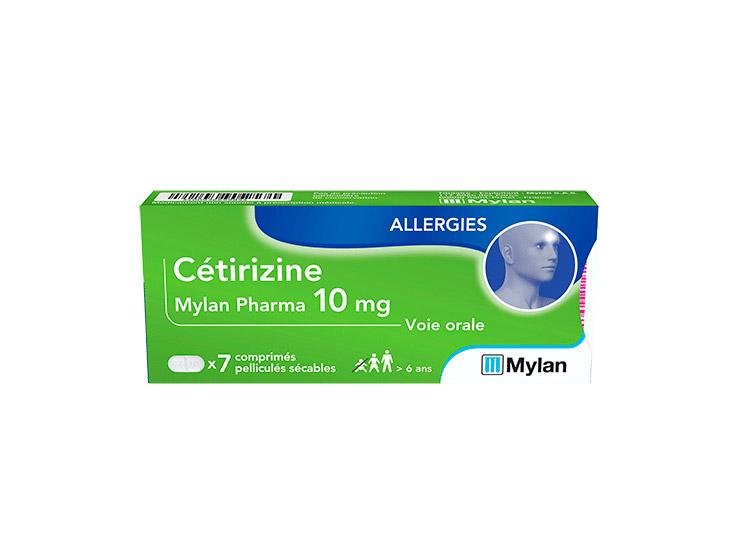 Mylan Cétirizine 10 mg - 7 comprimés