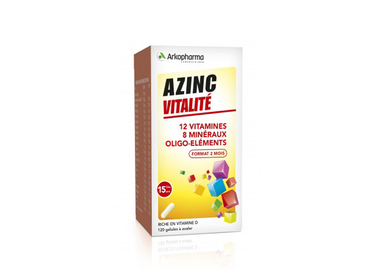 Azinc forme et vitalité  -120 gélules