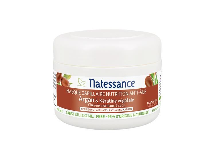 Natessance Masque Capillaire anti-age argan et Kératine - 200ml