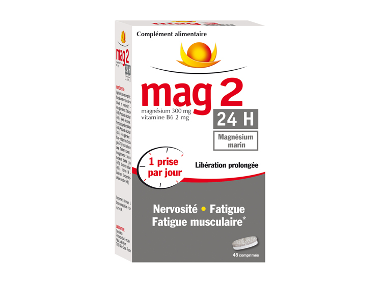 Mag 2 24h - 45 comprimés + 33% offert