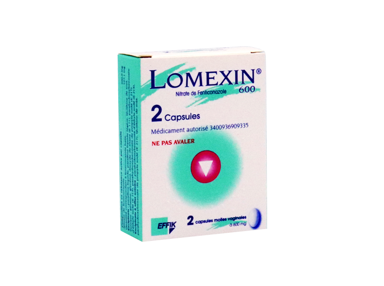 Effik Lomexin 600mg Capsules Molles Vaginales - 2 capsules