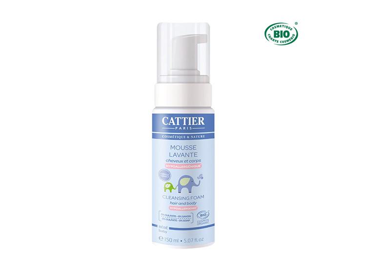 Cattier mousse lavante cheveux et corps bio - 150ml