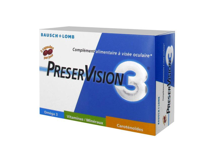 Bausch & Lomb Preservision 3 - 180 capsules