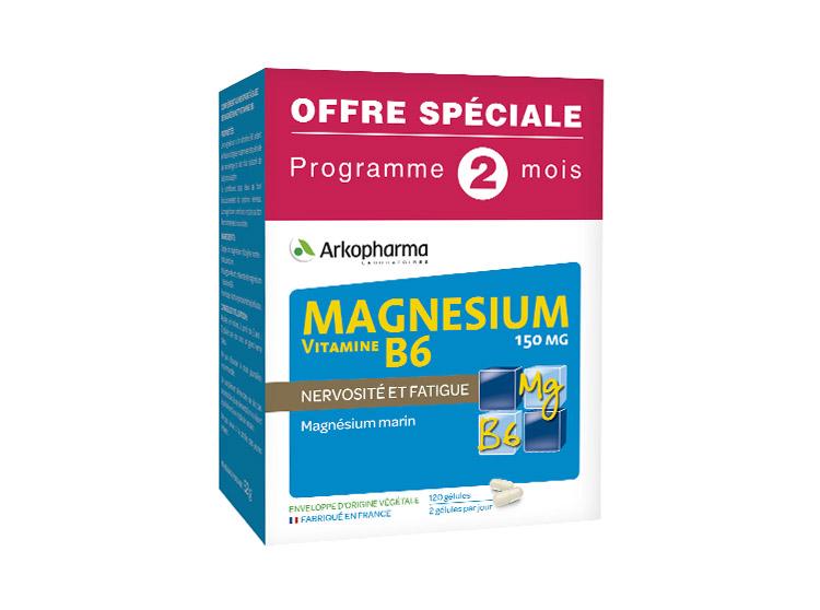 Arkopharma Magnésium et Vitamine B6 -  120 gélules