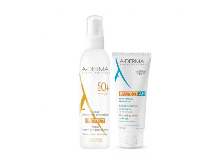 A-Derma Protect Spray SPF 50+ - 200ml + Lait réparateur après-soleil OFFERT