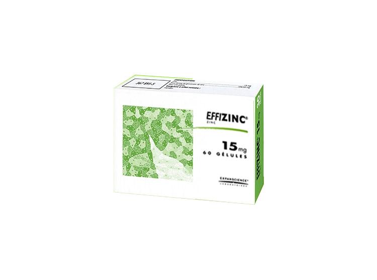 Effizinc 15mg - 60 gélules