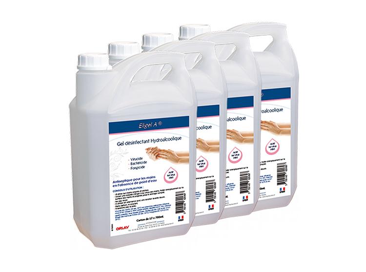 Eligel A gel désinfectant hydroalcoolique - 4x5L