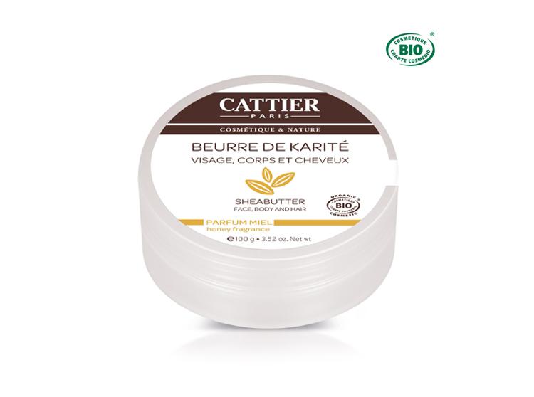 Cattier beurre de karité parfum miel bio - 100g